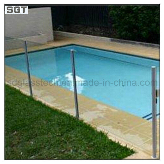 8-12mm Low Iron Clear Toughened Frameless Balustrade Glass Pool Fencing Glass