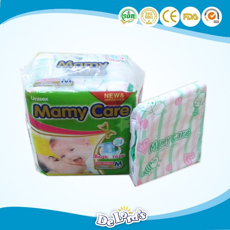 Negeria Cheap Price PE Backsheet Baby Nappy Baby Diapers