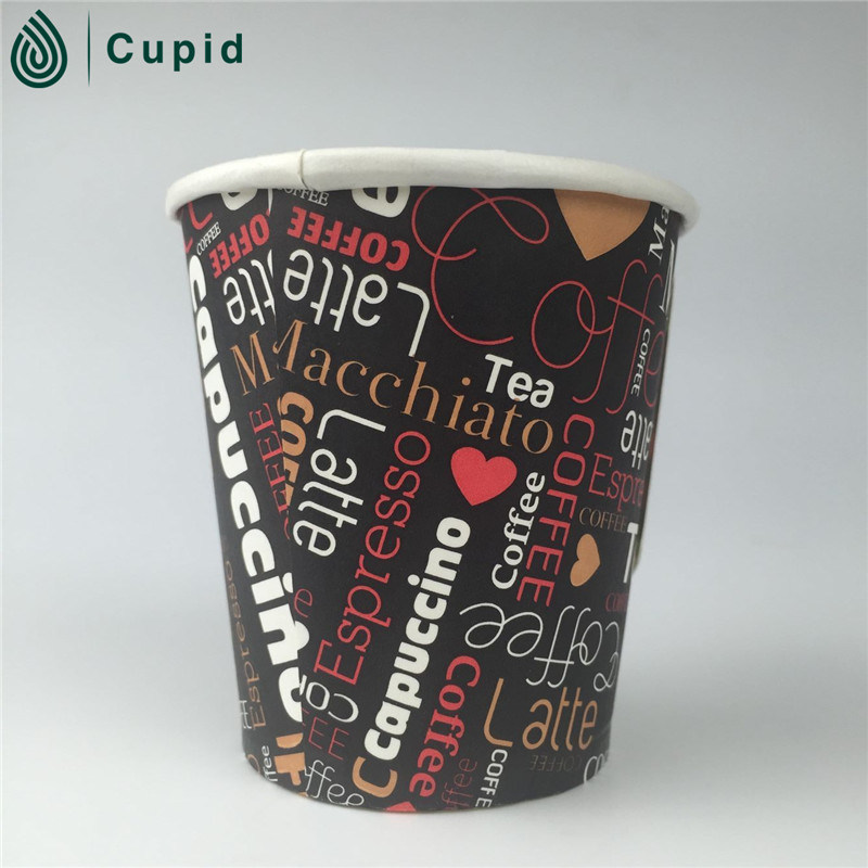 Hot Drinking Disposable Double Wall Paper Coffee Cups