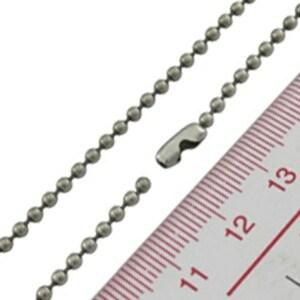 Custom 1.5mm Metal Plated Black Ball Chain