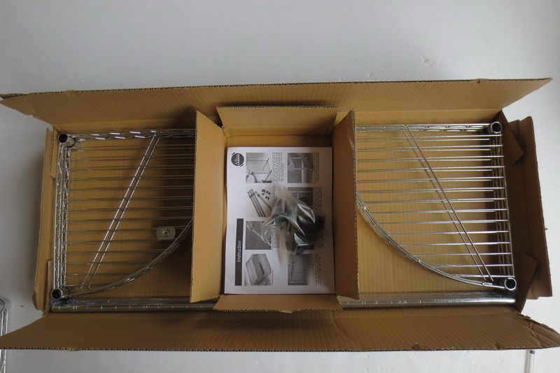 DIY 4 Tiers Chrome Metal Livingroom Bathroom Corner Wire Rack (CJ-C1035)