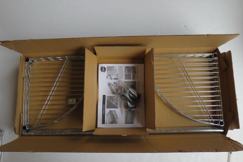 DIY 4 Tiers Chrome Metal Livingroom Bathroom Corner Wire Rack