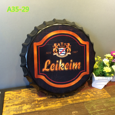2016 Most Popular Metal Sign Craft Bottle Cap Wall Decoration