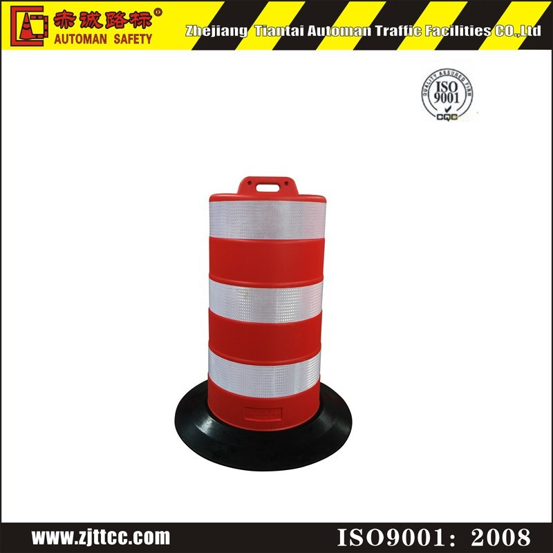 Saudi Arabia Standard Traffic Safety Barrel with Rubber Base (CC-S12)