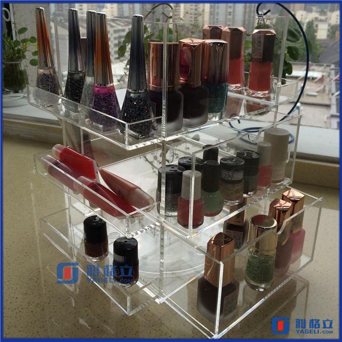 Acrylic Rotating Beauty Care Nail Polish Spinning Organizer