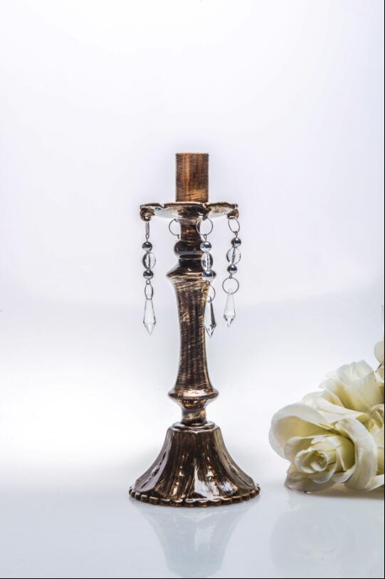 Bronze Single Poster Candle Holder for Wedding Decoration