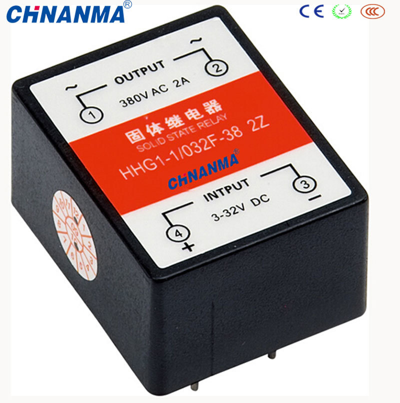 Output 380V AC 1A Input 3-32V DC Solid State Relay