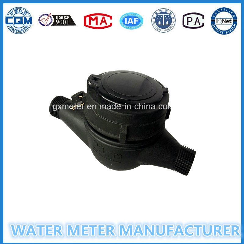 Dn15-20mm Nylon Plastic Muti-Jet Dry Dial Type Water Meter