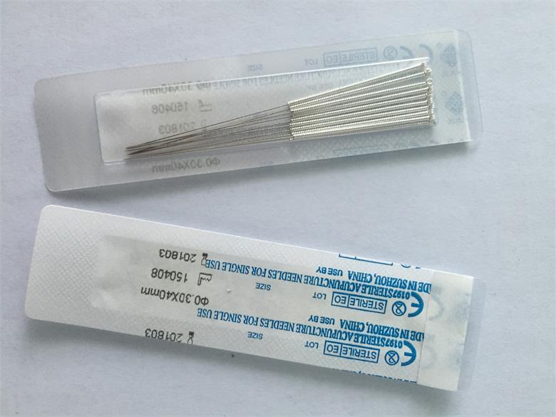 Package Ten Needles with One Blister Sheet