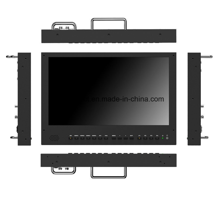 "15.6"" 4k 3840*2160 Broadcast Director Monitor with 3G-Sdi, HDMI, DVI"