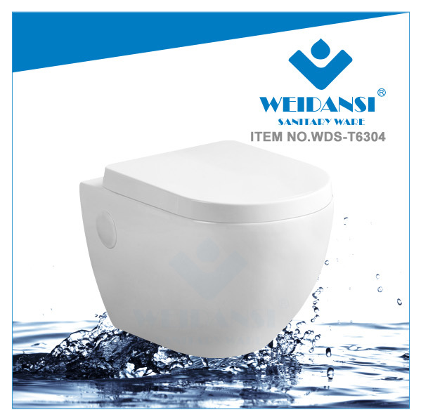 Weidansi Ceramic High-End Wall Hung Toilet (WDS-6304)