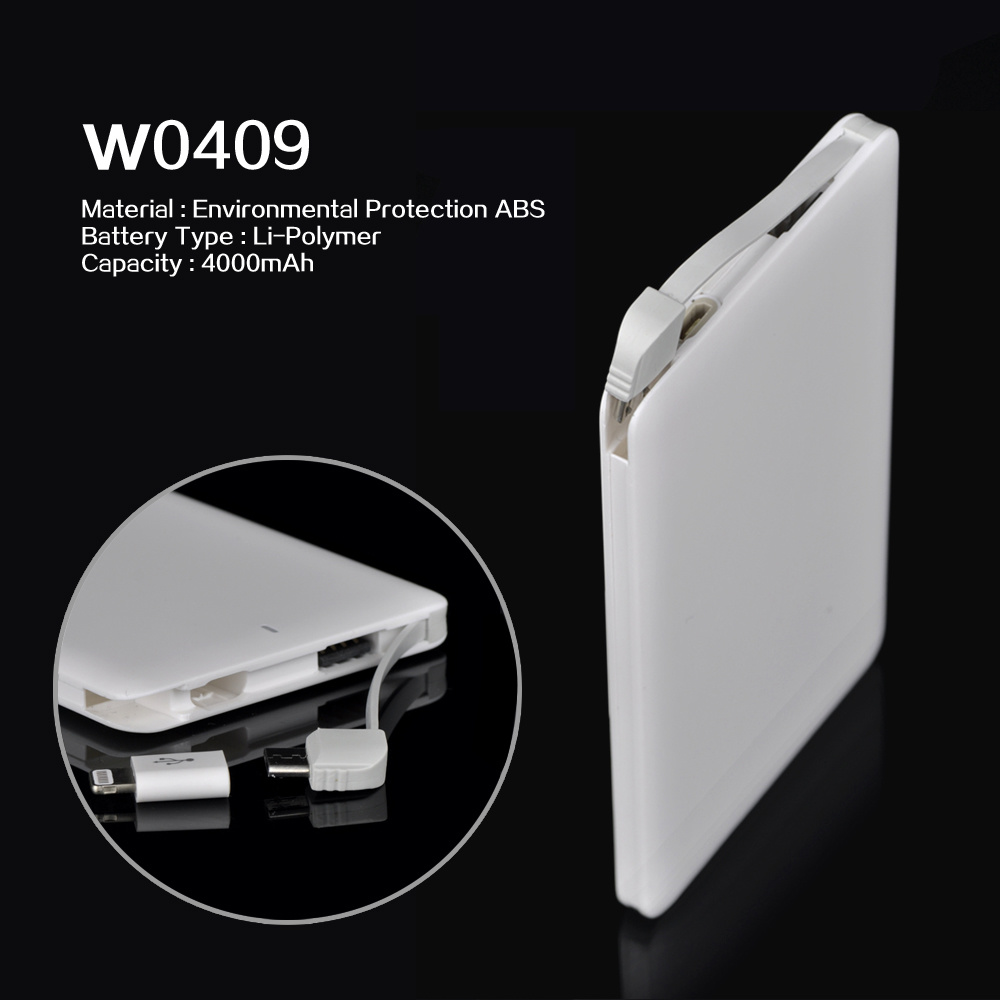 Power Supply 2 in 1 Selfie Credit Card Power Bank Portable Power Cahrger with LED Flashinglight, Custom Logo Factory Price, Card Power Bank
