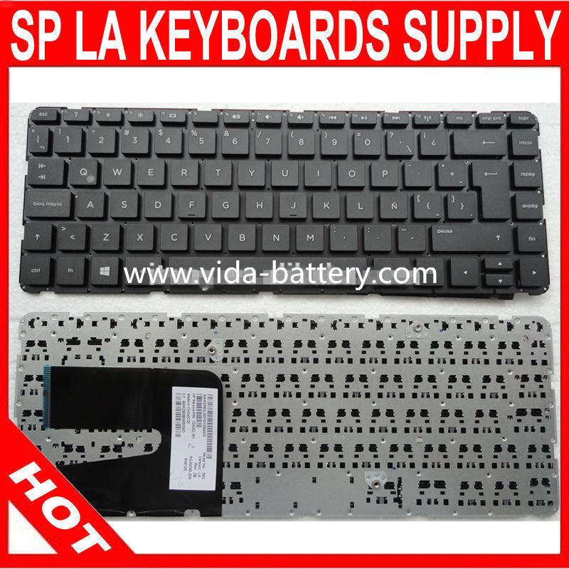 Spanish Notebook Keyboard for HP Pavilion 14-E 14e Black