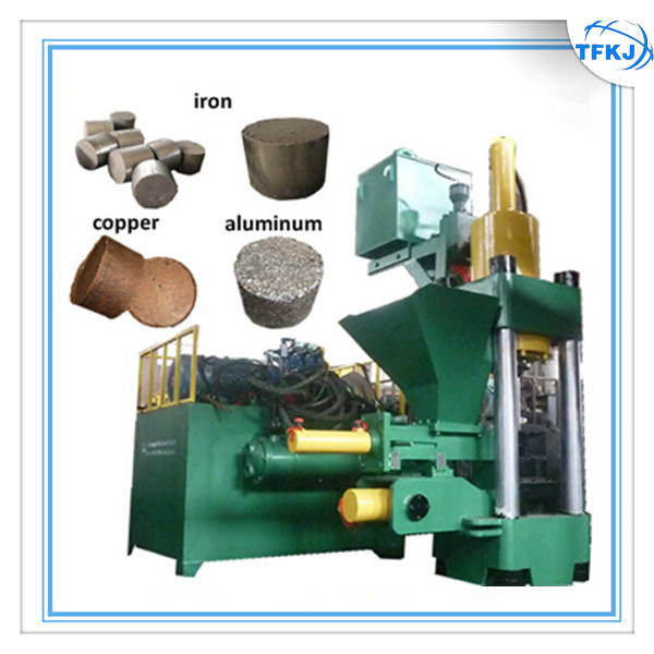 Automatic Steel Scrap Iron Turings Briquette Machine