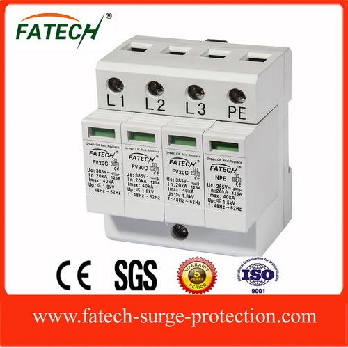 IEC 3 Phase 3P+N Imax 40ka Surge Arrester