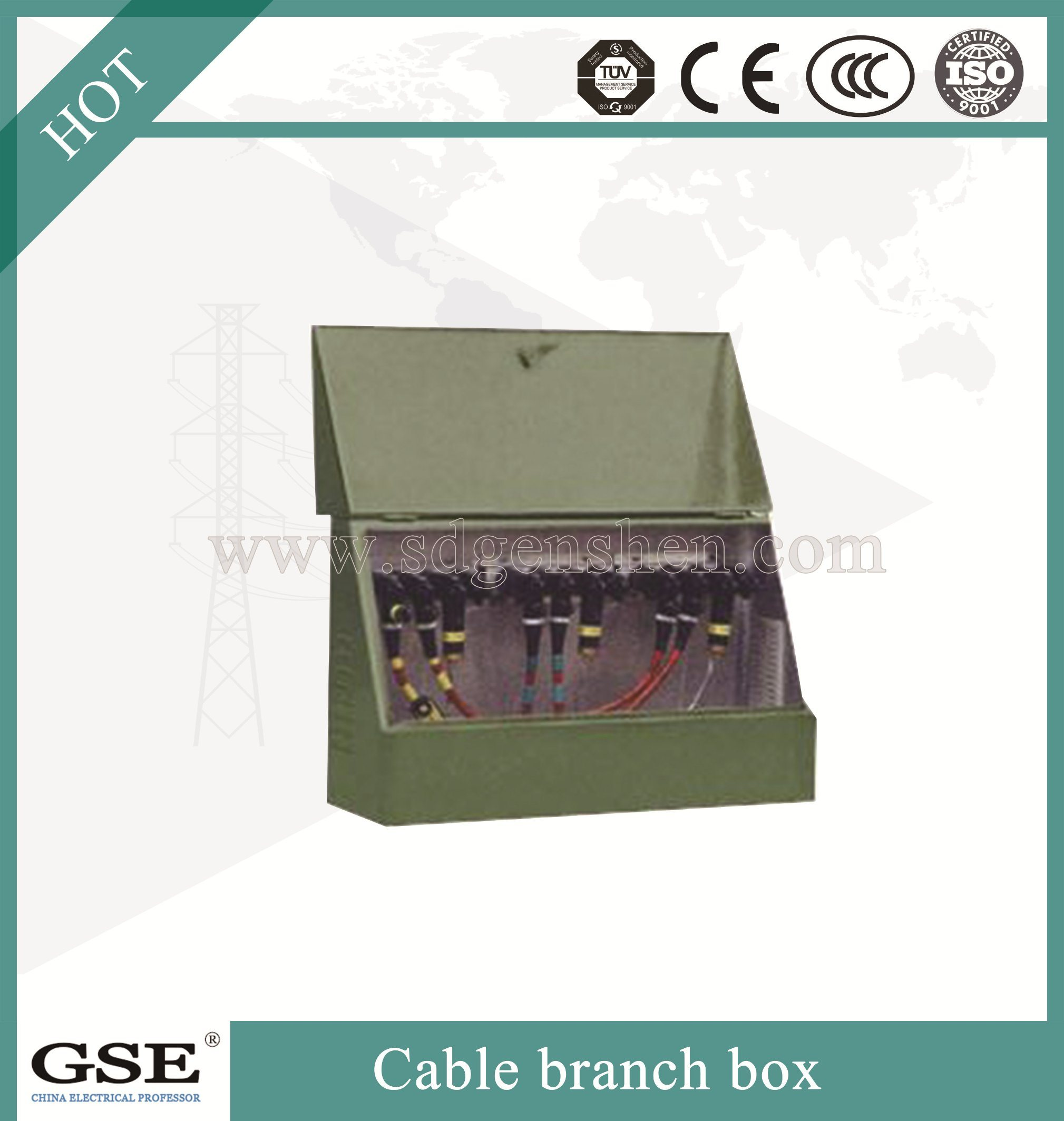 Stainless Steel Enclosure Outdoor High Voltage Cable Branch Box