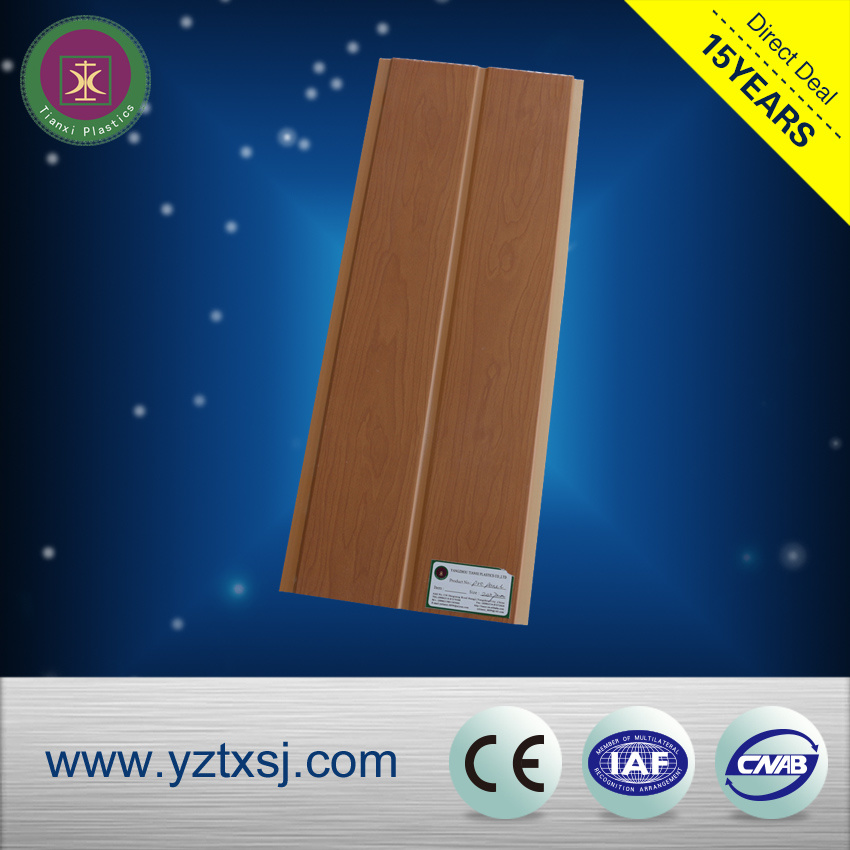 Wood Design Printing PVC Ceiling Tiles with One Groove