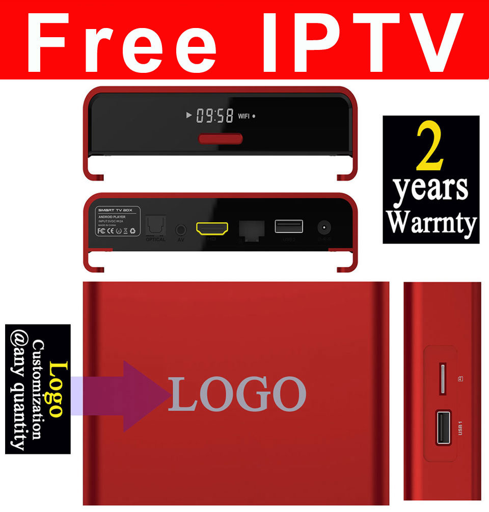 Custom Made Free IPTV Android5.1/Android6.0 Marshmallow TV Box S912 Octa Core T95upro-2GB/16GB