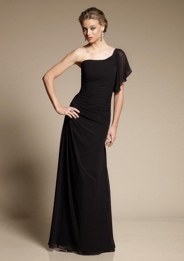 China black chiffon bridesmaid dresses z 033 china for Black bridesmaids dresses wedding