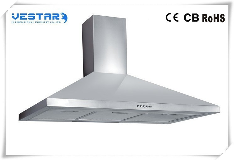 Kitchen Extractor Cooker Hood with Removable Glass