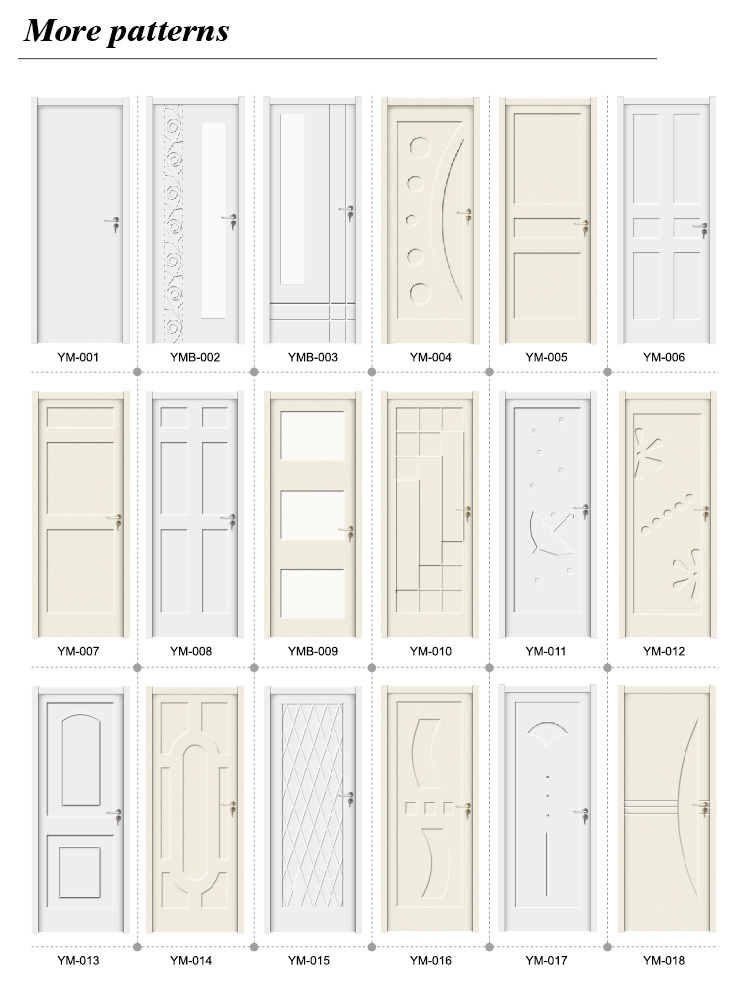 OEM/ODM WPC Raw Material Door Sheet Painting Door (YM-036)