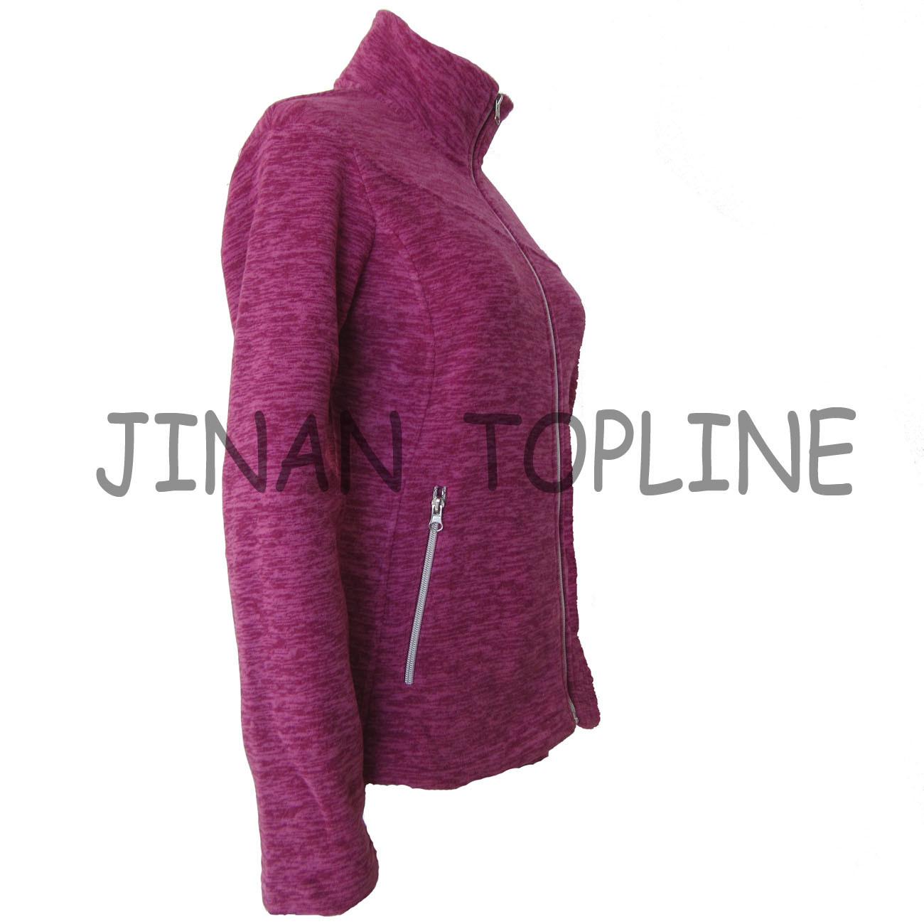 Women Long Sleeve Micro Fleece Slim-Fitting Fashion Jacket