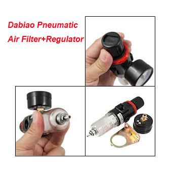 1/4′′ Ports Pneumatic Air Filter Regulator Reducing Valve with Gauge Model Afr-2000