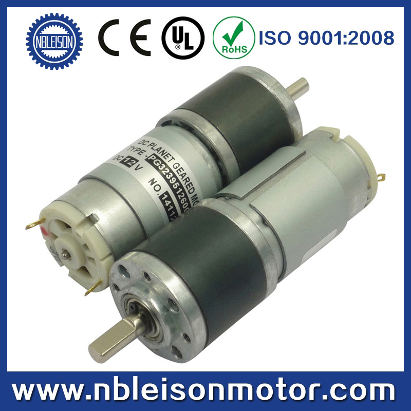 China 32mm low rpm high torque dc planetary geared motor for Electric motor low rpm