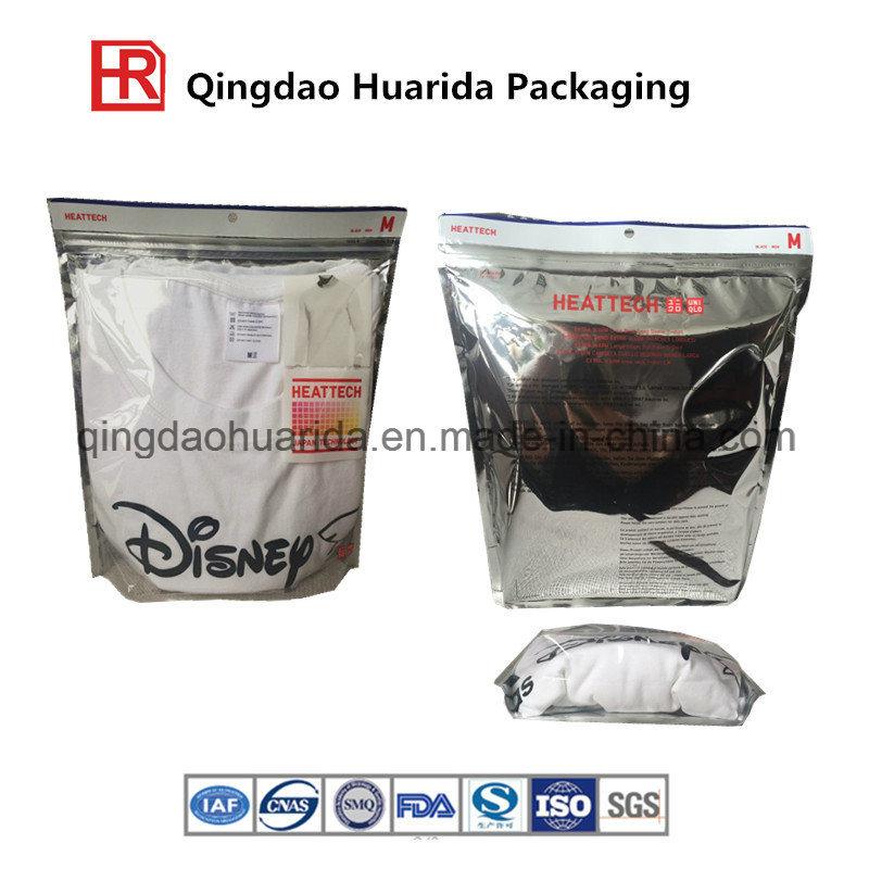 Reclosable Garment Zipper Bag Pouch