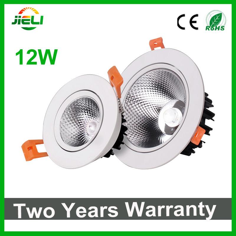 Good Quality 12W AC85-265V White COB LED Downlight