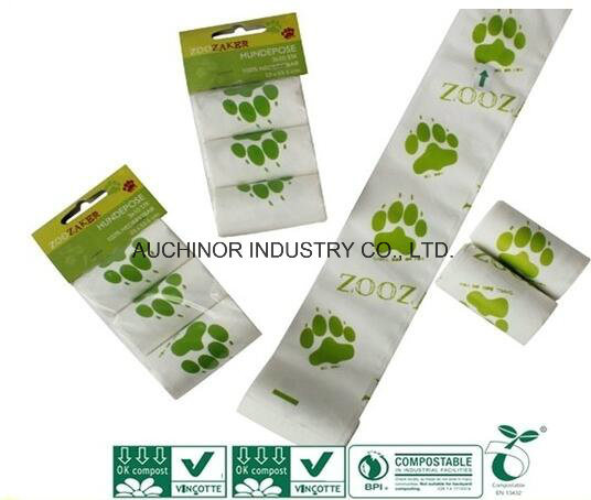En13432 and ASTM D6400 Certified Fully Biodegradable and Compostable Bags