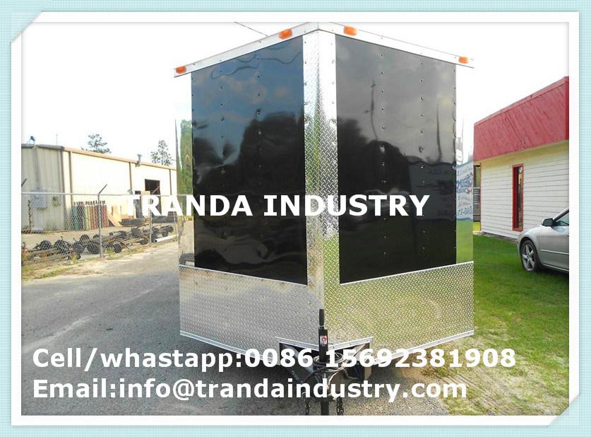 New 2017 7X16 7 X 16 Vnose Enclosed Cargo Trailer W/Ramp