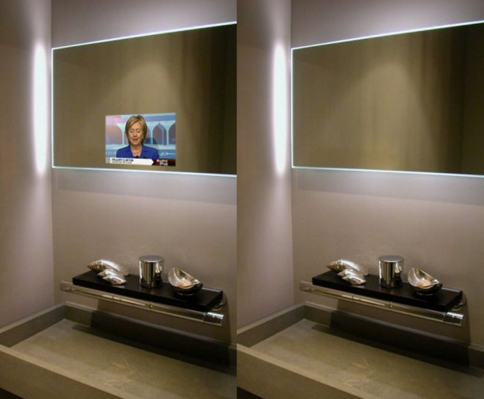 Wall Mount Motion Sensor Advertising Player with Magic Mirror Digital Signage