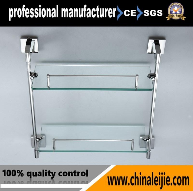 Elegant Stainless Steel Glass Shelf for Bathroom Accessory