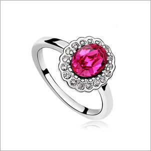 VAGULA Round Zircon Fashion Silver Ring