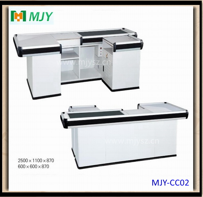 Supermarket Checkout Counter with Conveyor Belt Mjy-Cc09
