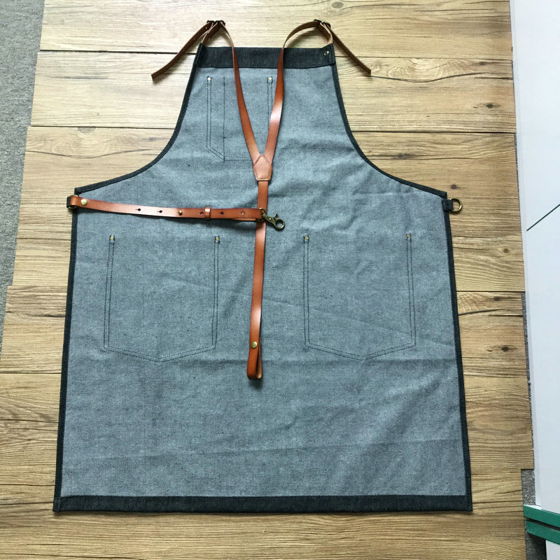 Personalized Denim BBQ Apron Custom Denim Apron Wholesale