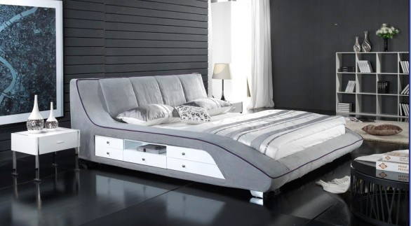 Bedroom furniture set fabric soft bed 2012 bedroom for Chambre a coucher 2012