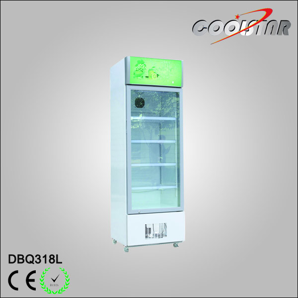 Vertical Fan Cooling Optional One Glass Door Refrigerating Showcase (DBQ-318L)