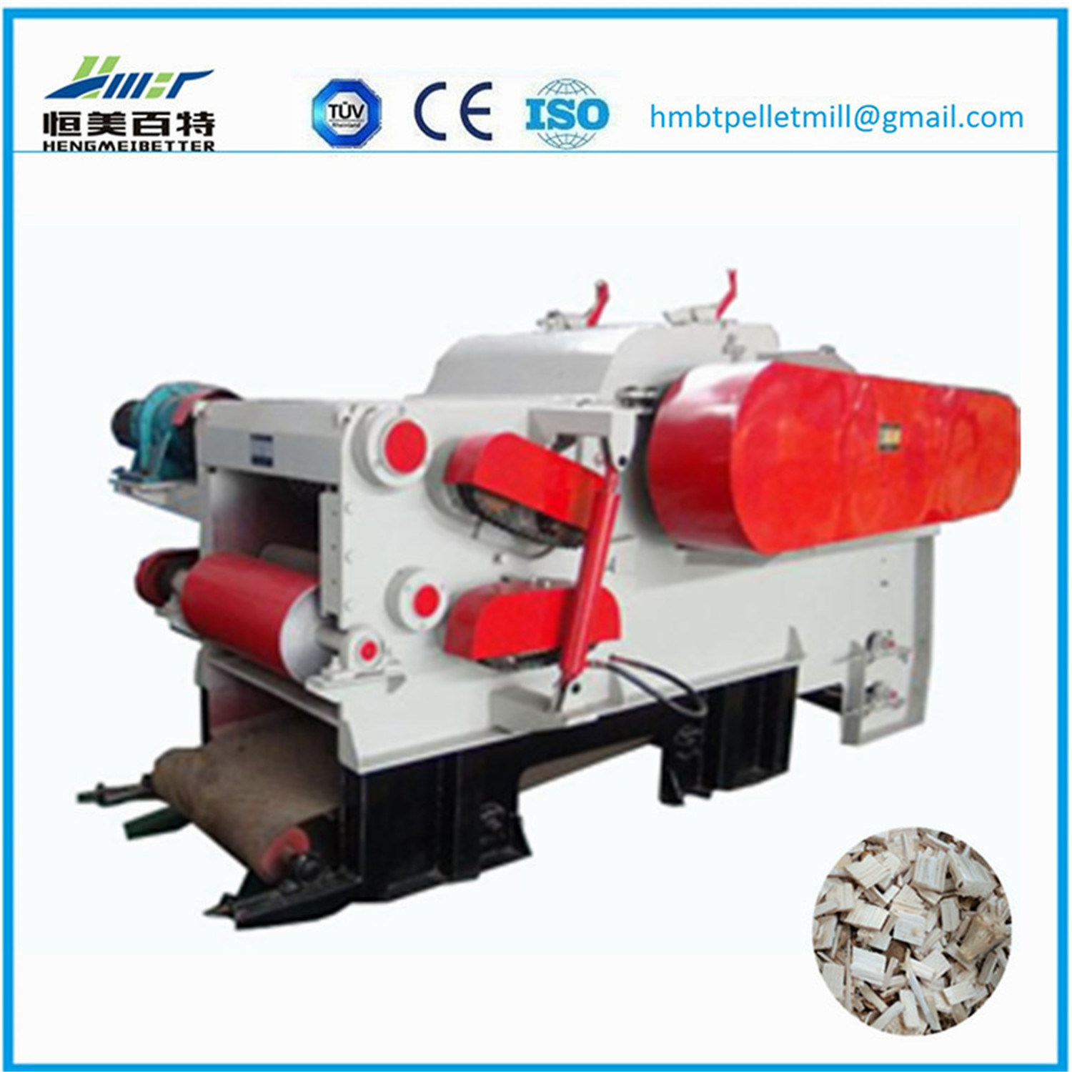 High Quality Wood Chipper Shredder Machine / Electric Wood Chipper Machine