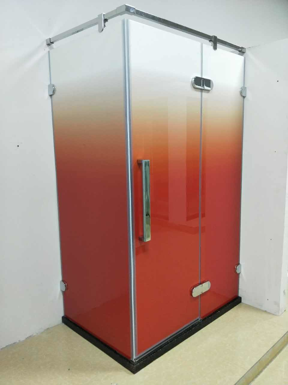 Colorful Semi Circular Shower Enclosure Composition - Luxurious ...