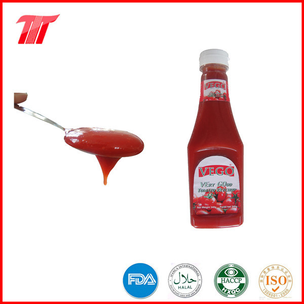 Halal Food Vego Brand 340 G Tomato Ketchup in Plastic Bottle