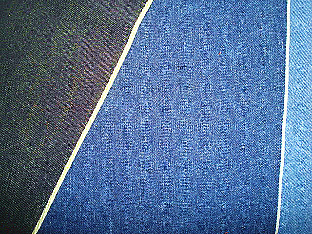 Jacquard Dots Design Indigo Chambrary Fabric