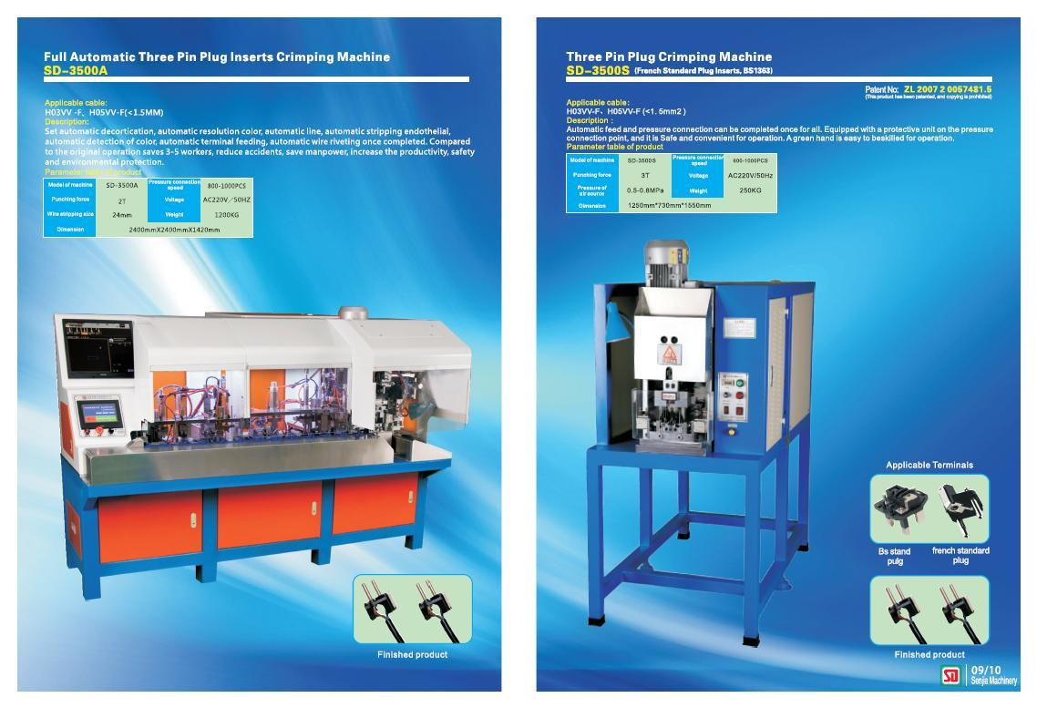 Wire Cutting, Stripping, Polarity; Crimping Machine