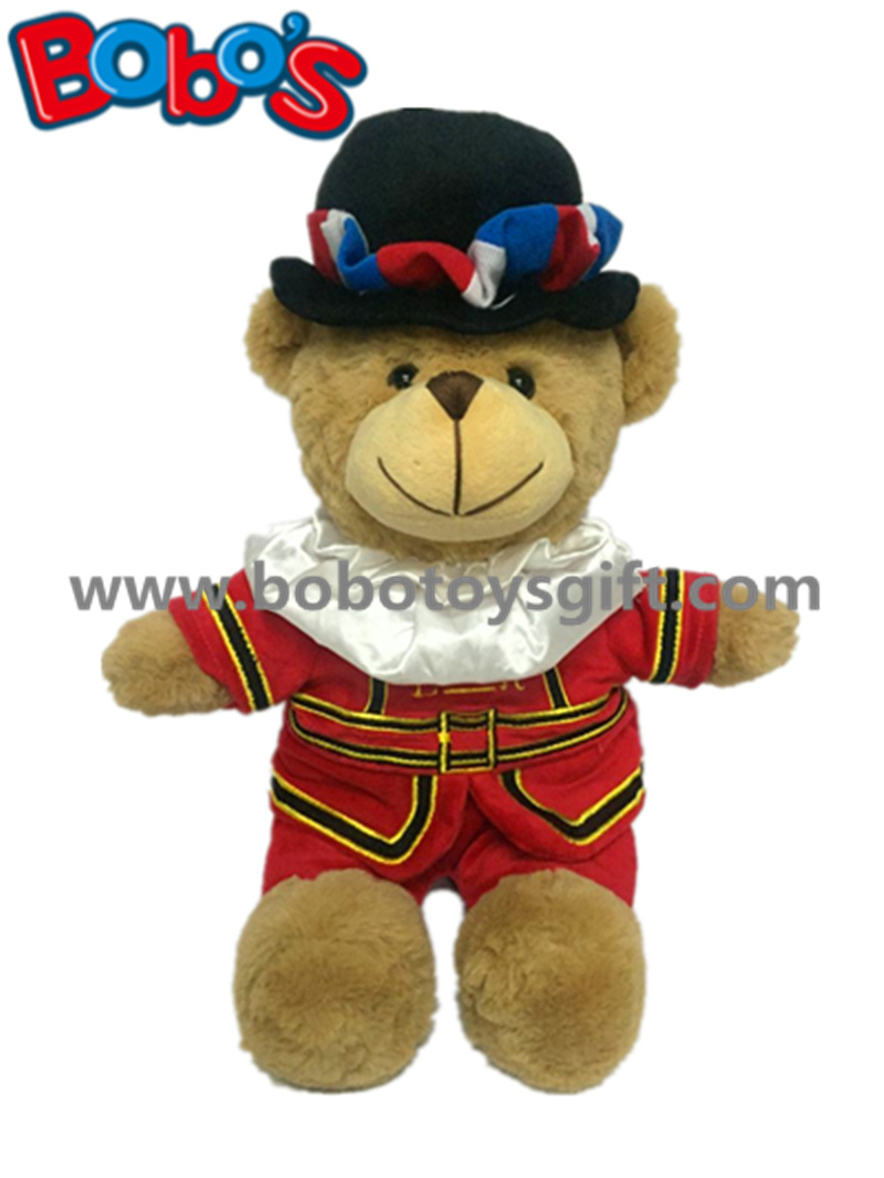 Stuffed Plush Beefeater Teddy Bear Toy