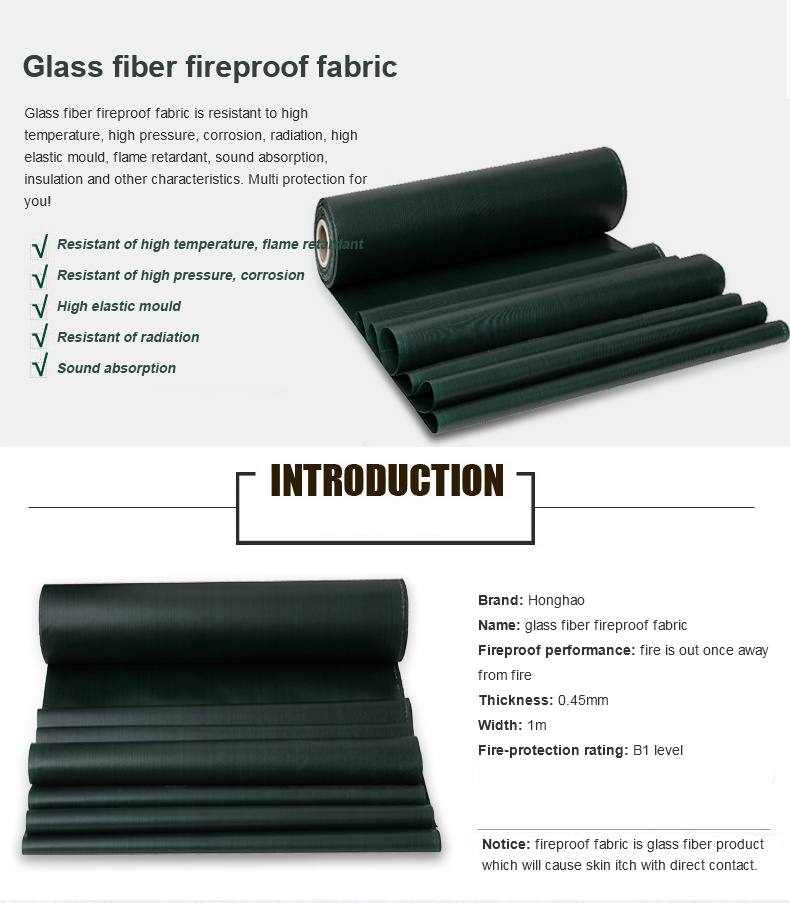 High Strength Glass Fiber Fireproof Fabric Tarpaulin/Tarp