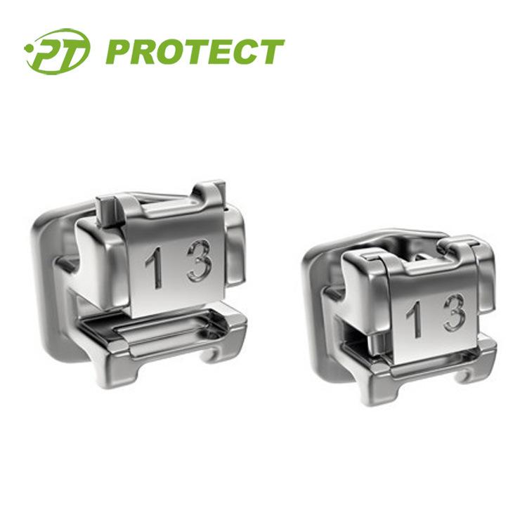 Orthodontic Protect V Self Ligating Metal Bracket Bracket Ce FDA ISO13485 Certificated