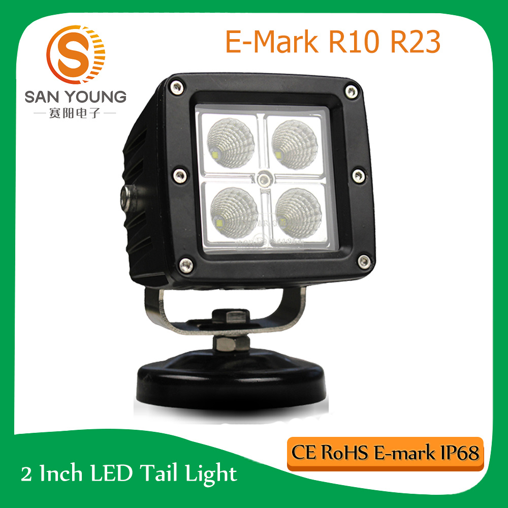3inch Square 16W CREE LED Work Light Auto Driving off Road Fog Head Light 12 24V DC