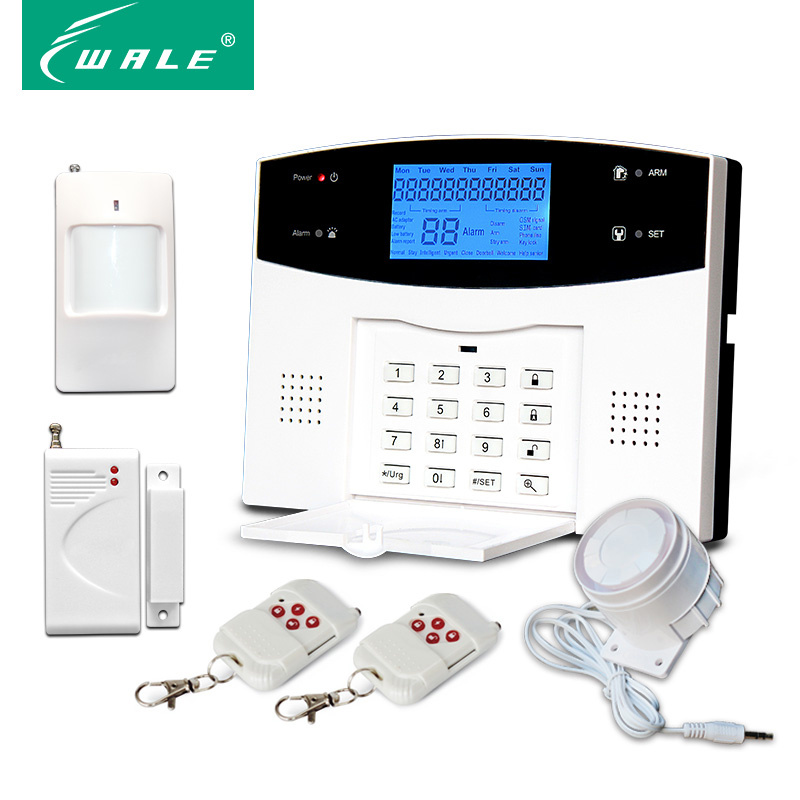 Home Wireless Security GSM/PSTN Burglar Touch Panel System Alarm with APP and Spanish/Russia/French Voice
