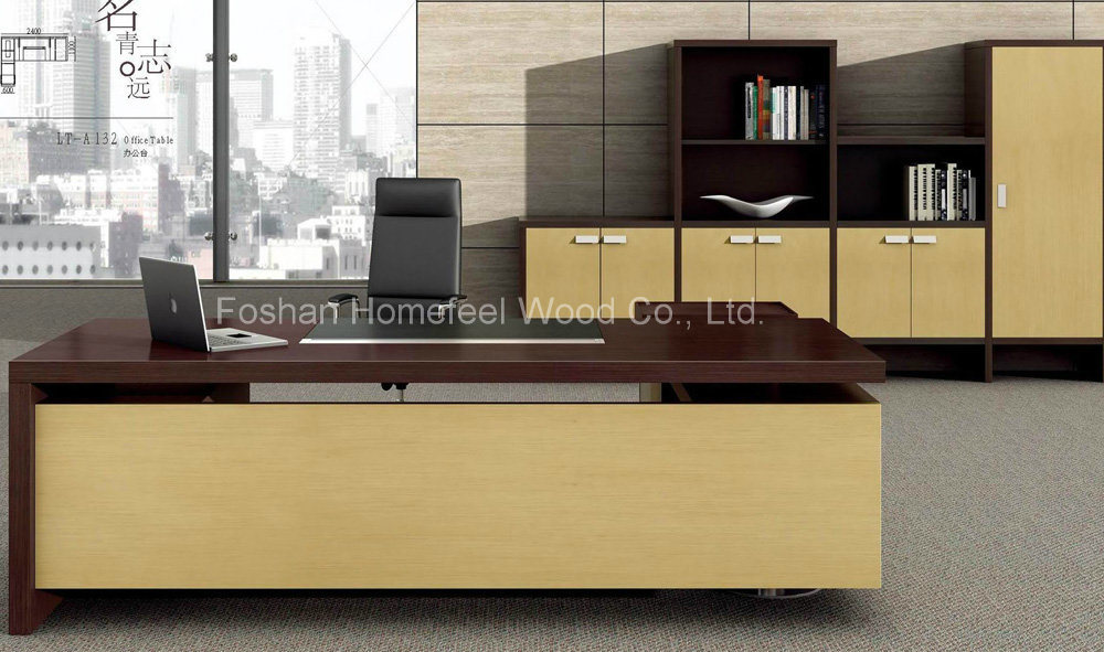 Lovely Luxury Design L Shape Executive Table Office Boss Table (HF LTA132)